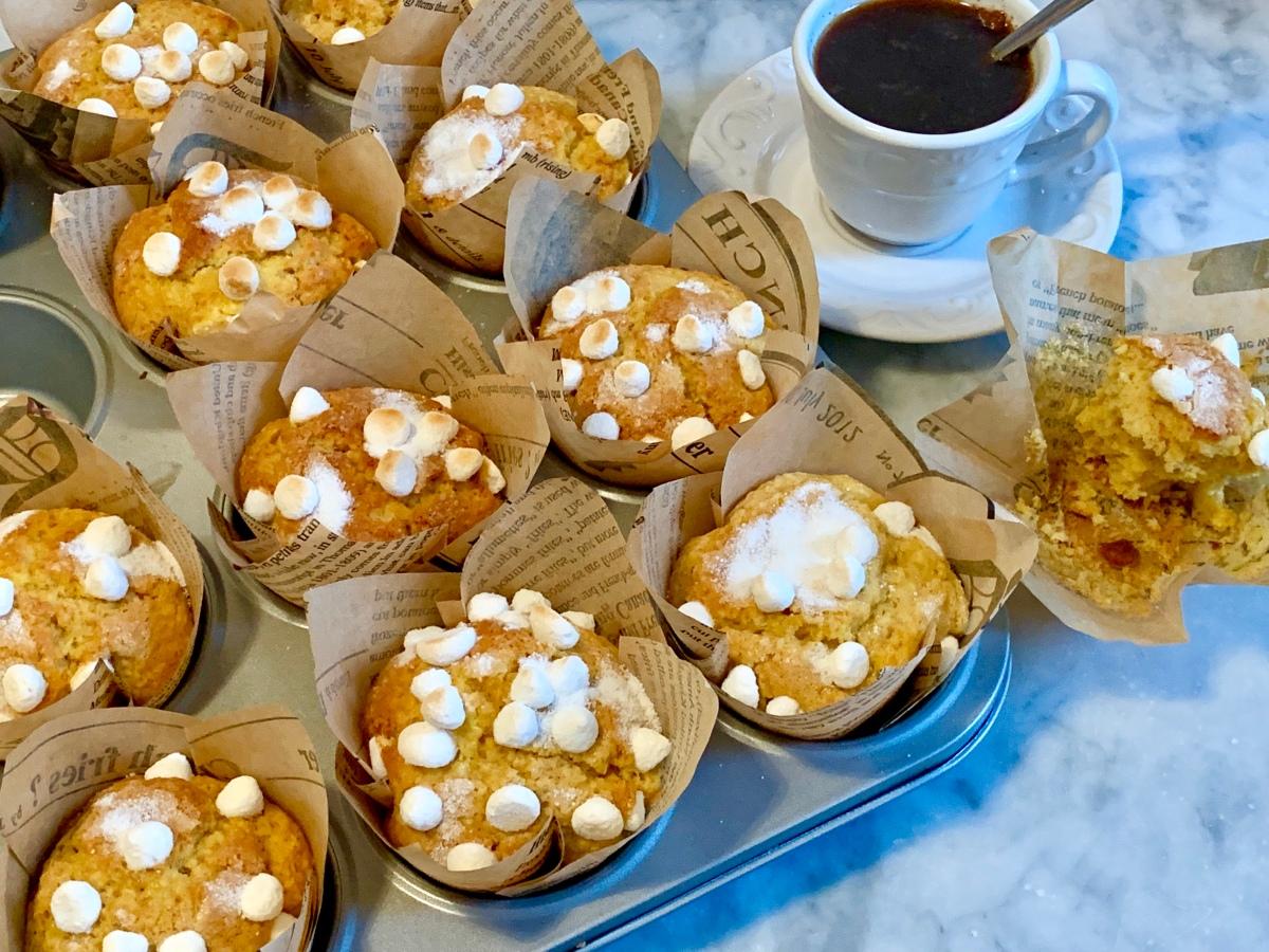Muffin cocco limone cannella