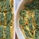 Rotolo spinaci ortica e ricotta con besciamella alla salvia e al pepe verde