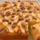 Torta di mele e frutta secca caramellata
